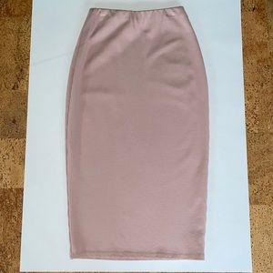 NWOT Charlotte Russe Mauve Bodycon Midi Skirt
